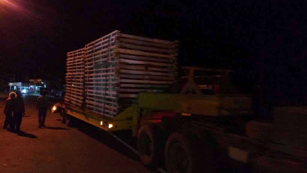 Material untuk Bangun Jembatan Darurat di Pangandaran Mulai Tiba