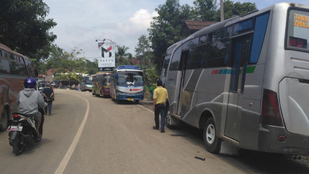 Jembatan Putrapinggan Ambles, Tarif Bus Jurusan Pangandaran Tetap Normal