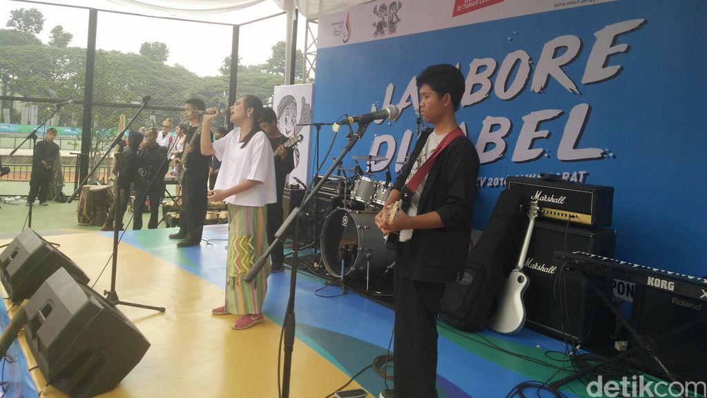 Band Tunanetra ini Meriahkan Jambore Difabel di Bandung
