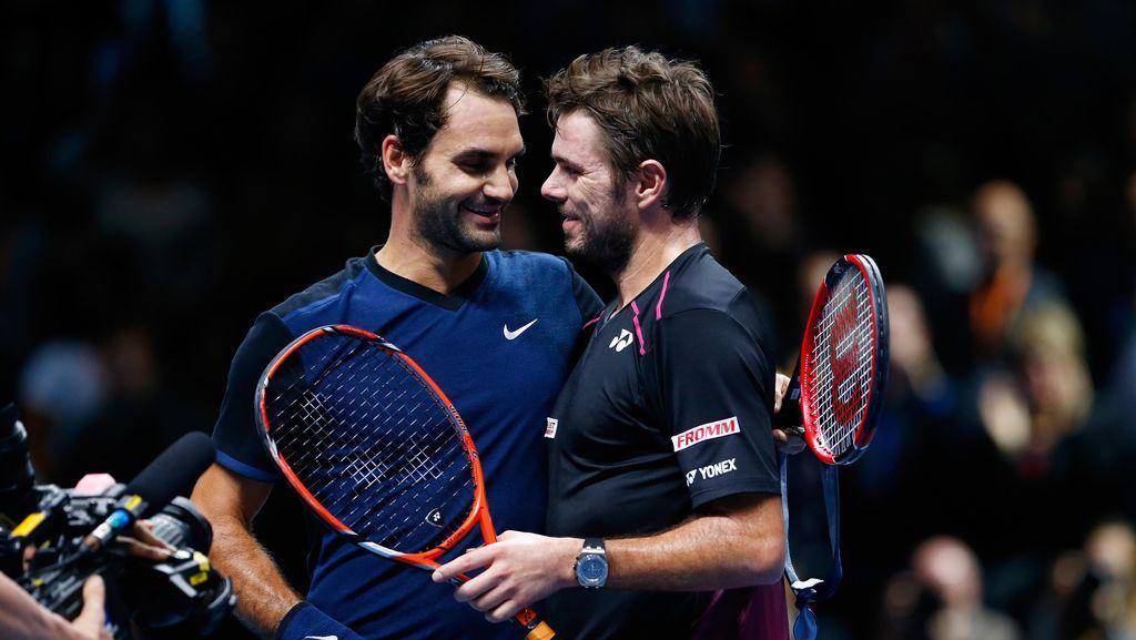 Tahun Depan Wawrinka Ingin Lihat Federer Beraksi Lagi Tanpa Diganggu Cedera