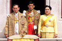 Raja Bhumibol Adulyadej, Ratu Sirikit, dan Pangeran Vajiralongkorn