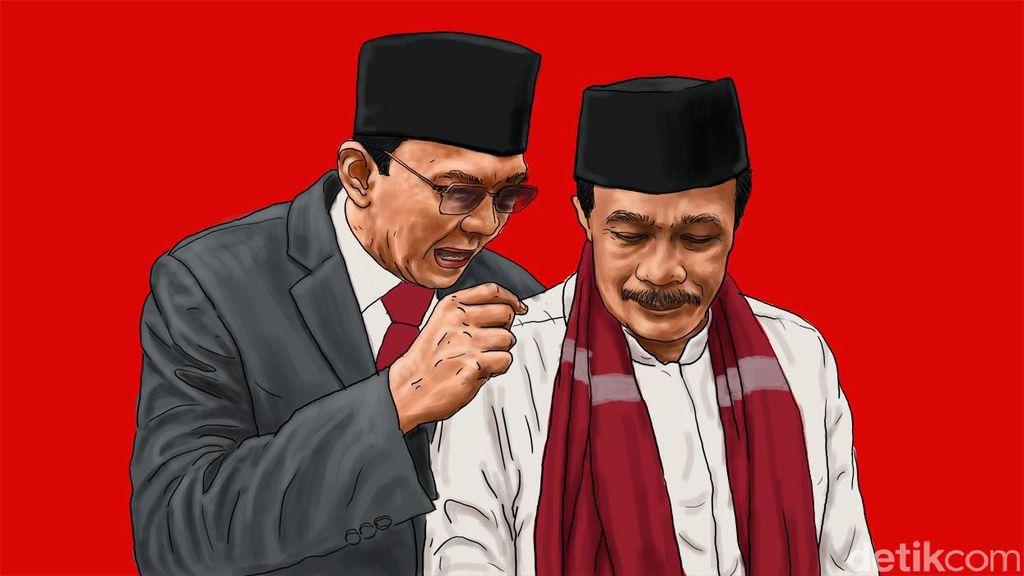 Ahok Apresiasi Pengurus PDIP Gotong Royong Galang Dana Kampanye