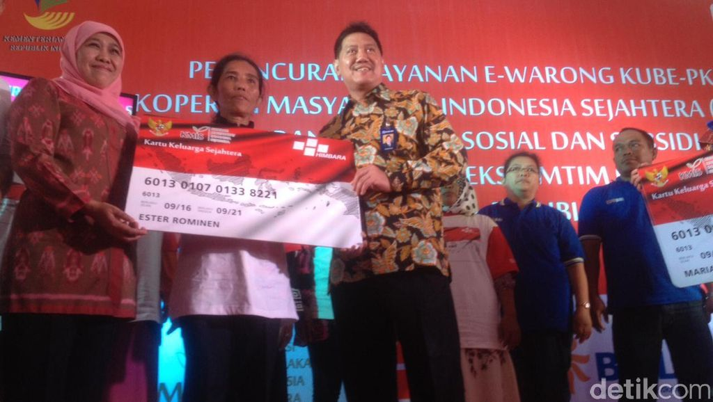 Maksimalkan Bansos Non Tunai, Mensos Resmikan e-Warung di Medan