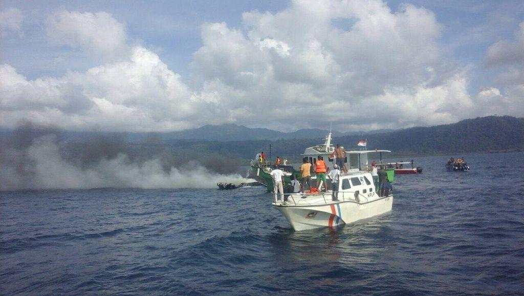 Satu Orang Korban Hilang Speed Boat yang Terbakar di Jailolo Ditemukan