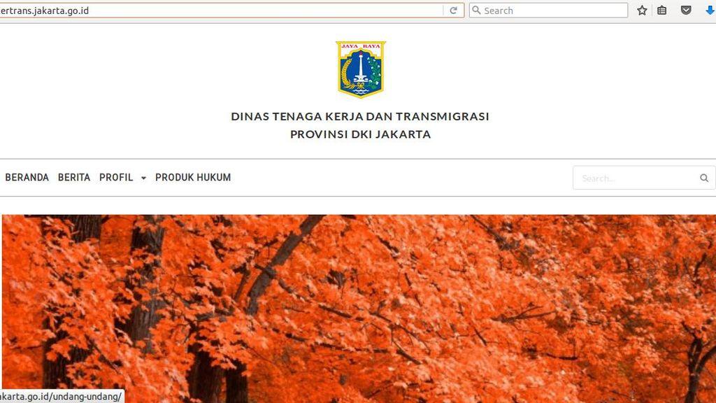 Sempat Dibajak, Situs Disnakertrans DKI Sudah Normal