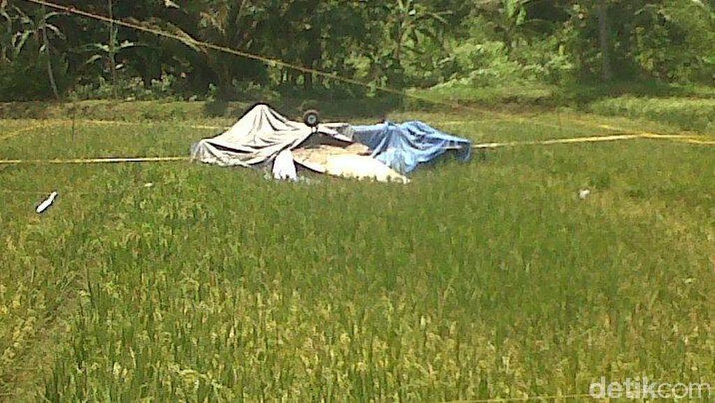 Detik-detik Pesawat Latih Jatuh di Sawah: Mesin Mati, Nyaris Tabrak Pohon Kelapa