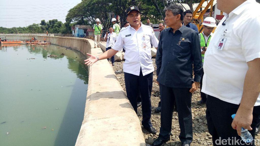 Cek Proyek Cegah Banjir di Sunter, Kajati DKI: Pengerjaannya Sudah Bagus