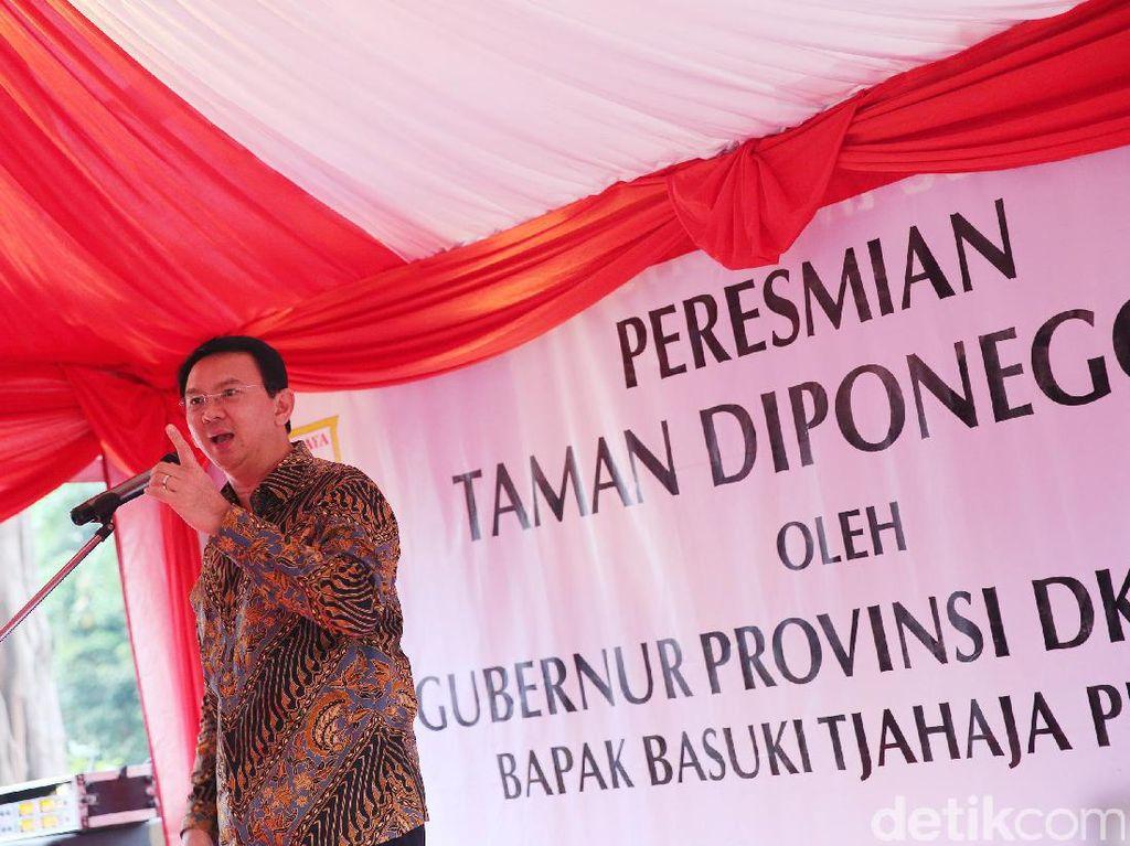 Ahok Resmikan Taman Diponegoro