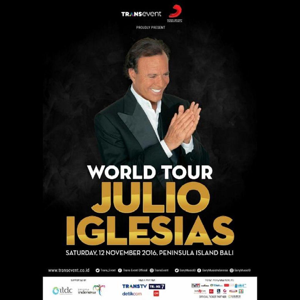 Julio Iglesias Gelar Konser Bernuansa Outdoor di Nusa Dua
