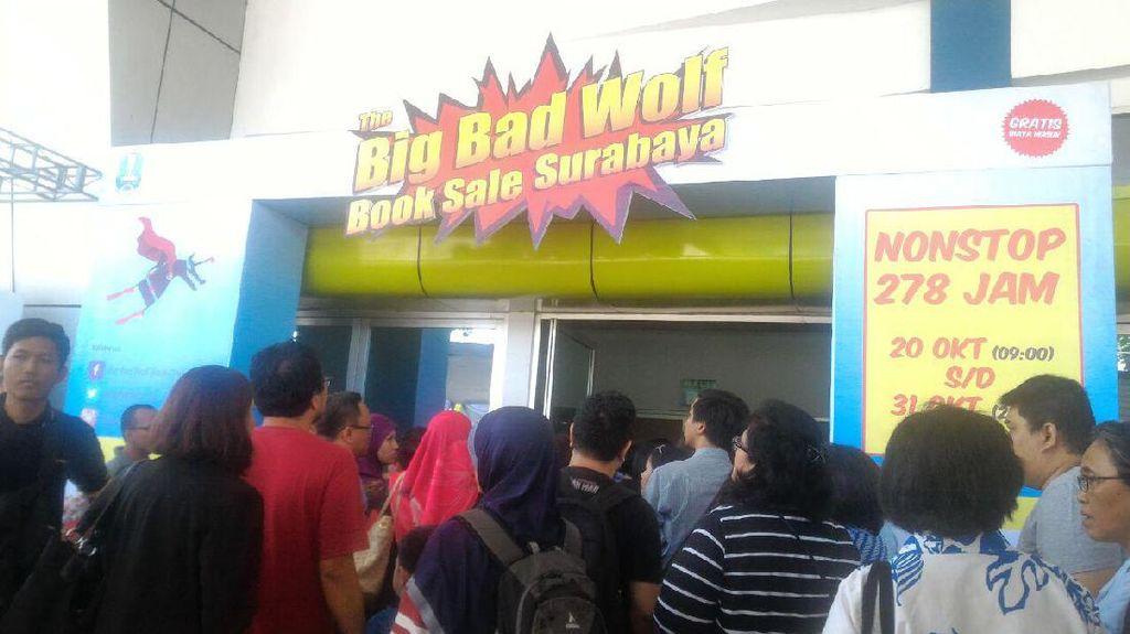 Diskon Gede-Gedean 2 Juta Buku di Big Bad Wolf Book Sale Surabaya