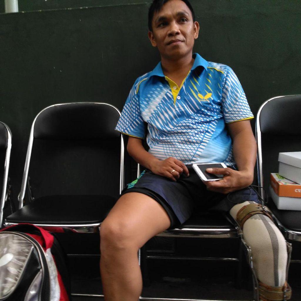 Polio Tak Halangi Boni Berprestasi di Tenis Meja