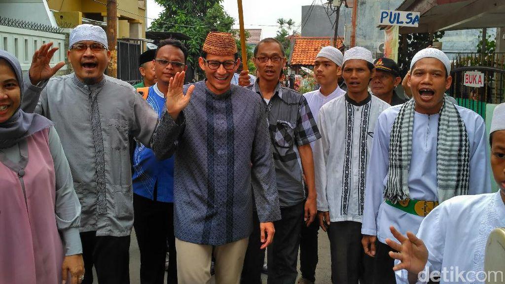 Terima Dukungan Forum Santri Jakarta, Sandi Teken Kontrak Politik