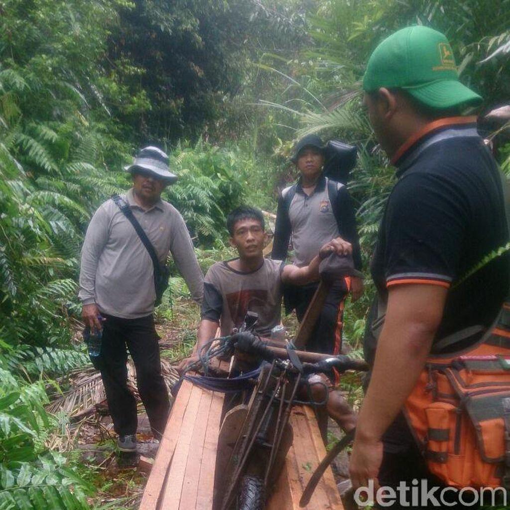 Polres Siak Tangkap 3 Pelaku Illegal Logging, 4 Kubik Kayu Berhasil Disita