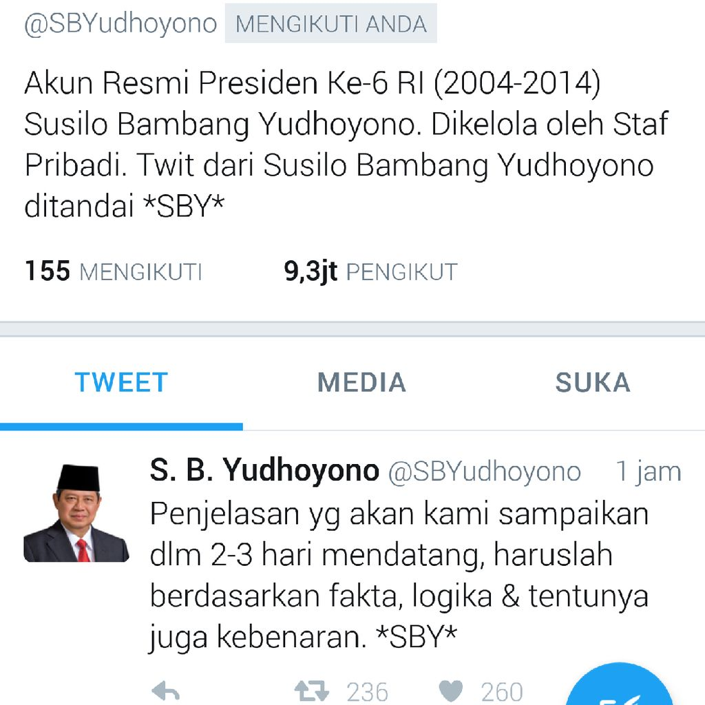 SBY akan Buka Suara Soal Dokumen TPF Munir