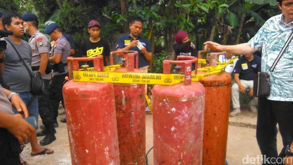 Cek Tabung Gas Ledakan PHD, Polisi Temukan Regulator Posisi On