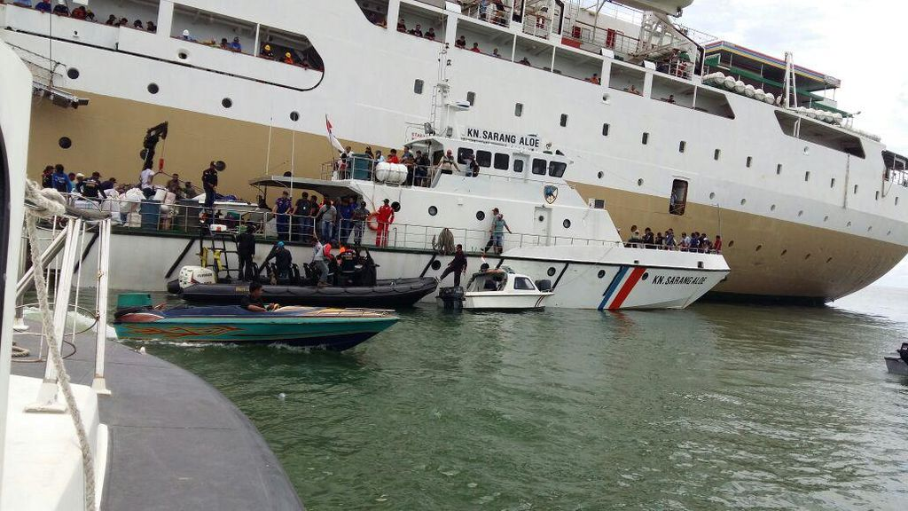 KM Lambelu yang Kandas di Tarakan Berhasil Berlayar Kembali