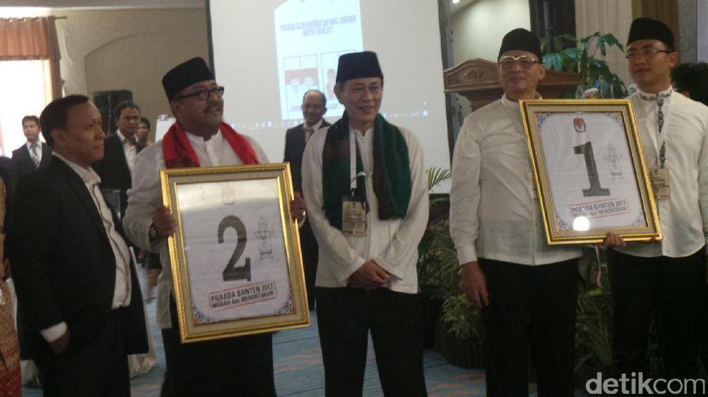 Wahidin-Andika Nomor Urut 1 di Pilkada Banten, Rano Karno-Mulya Nomor Urut 2