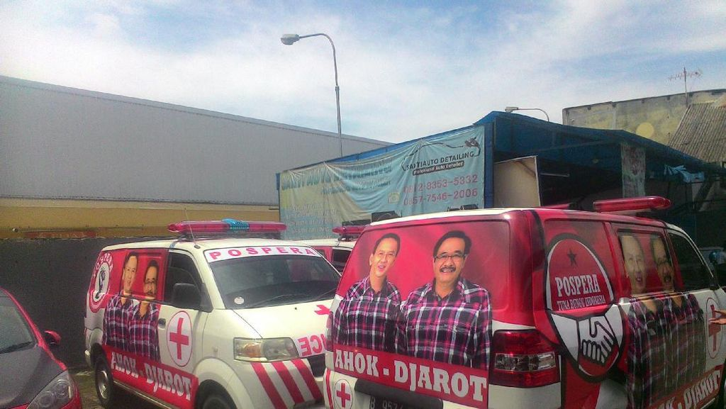Bawaslu DKI Soroti Ambulans Bergambar Ahok-Djarot: Tunggu Saat Kampanye