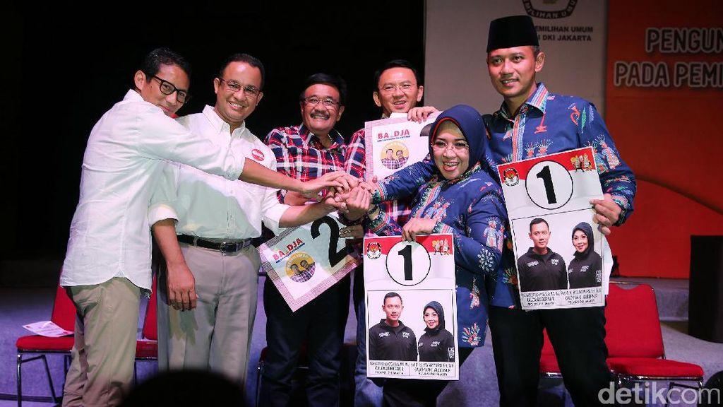 Inilah Akun Media Sosial Resmi Kampanye Para Paslon Cagub-Cawagub Jakarta