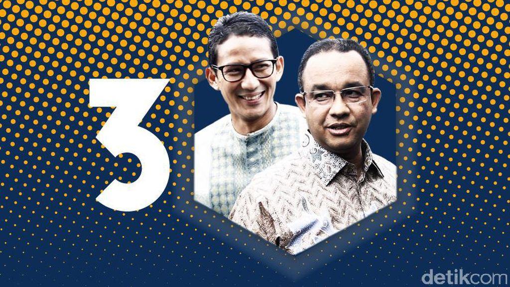 Anies ke Pendukung: Nomor Urut Tiga Akan Menjadi Nomor Satu di DKI