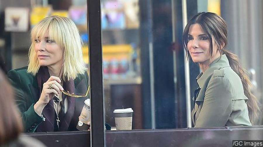 Intip Cate Blanchett dan Sandra Bullock Syuting Oceans Eight