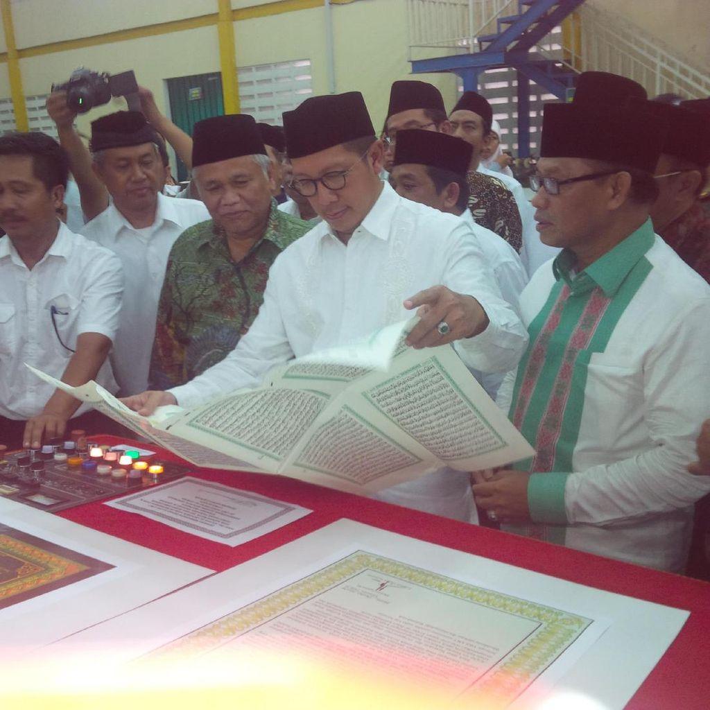 Menag Resmikan Percetakan Mushaf Alquran Standar Indonesia di Bogor
