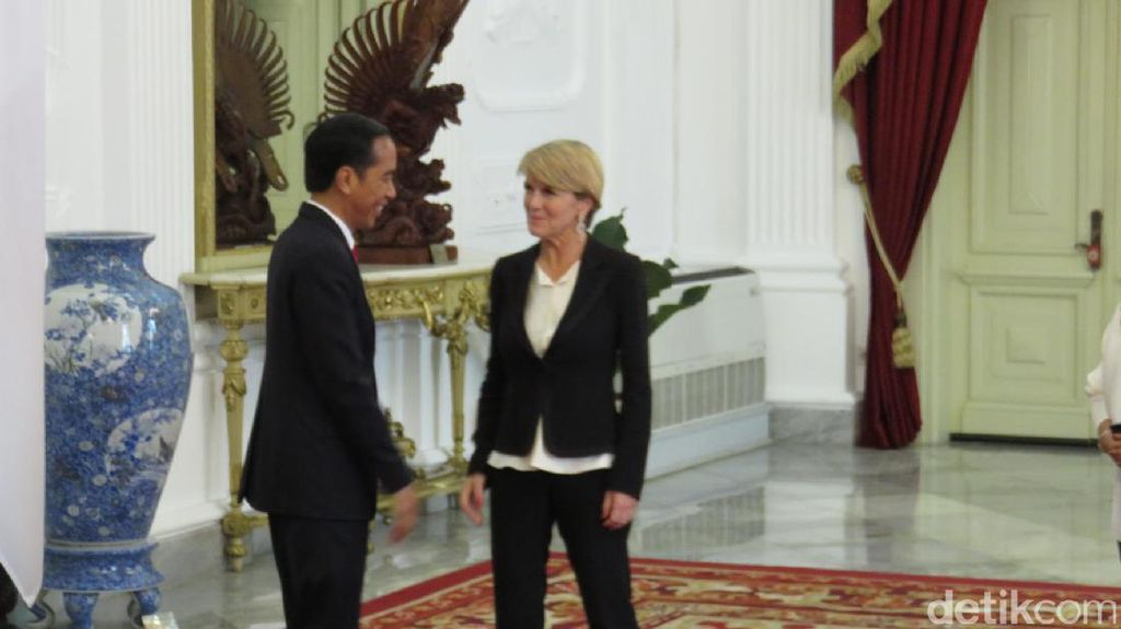 Menlu Australia Julie Bishop Temui Presiden Jokowi di Istana Merdeka