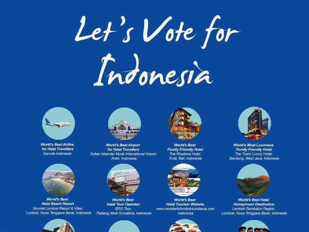Ayo Vote Indonesia Supaya Juara di Ajang Pariwisata Halal Dunia!