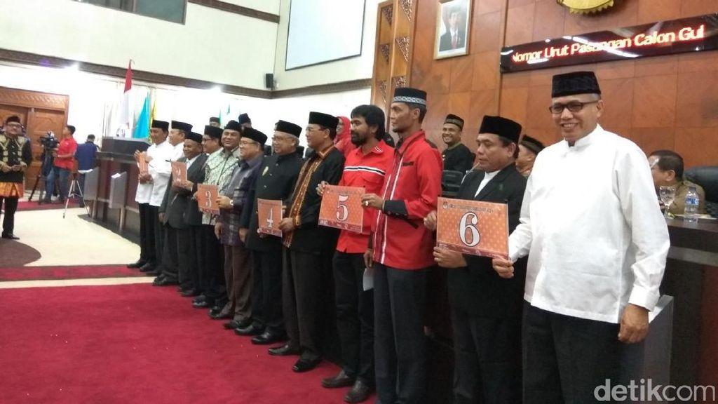 Makna Nomor Urut Bagi 6 Cagub-Cawagub di Pilgub Aceh