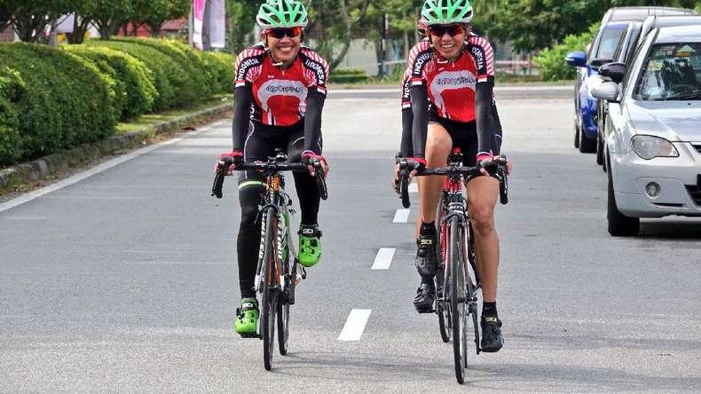 Tim Putri Balap Sepeda Cari Pengalaman di Jelajah Malaysia