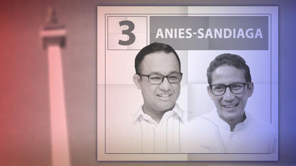 Sandiaga Kenalkan Senyum 3 Jari, Anies Baswedan Tetap Salam Bersama