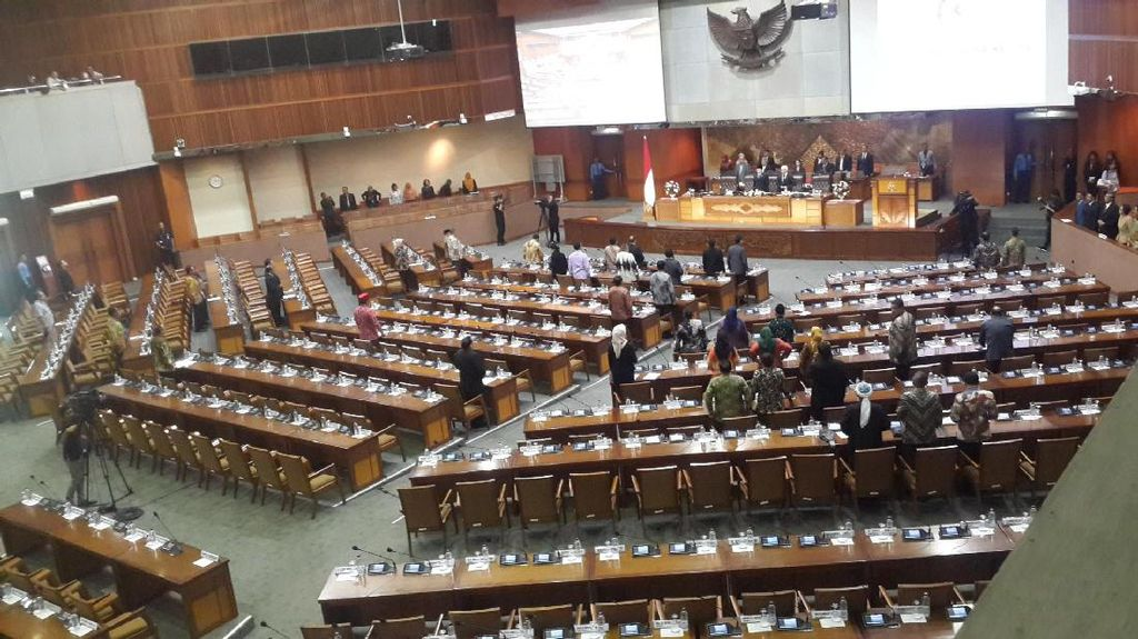 Paripurna Pengesahan UU APBN 2017, 186 Anggota DPR Tak Hadir