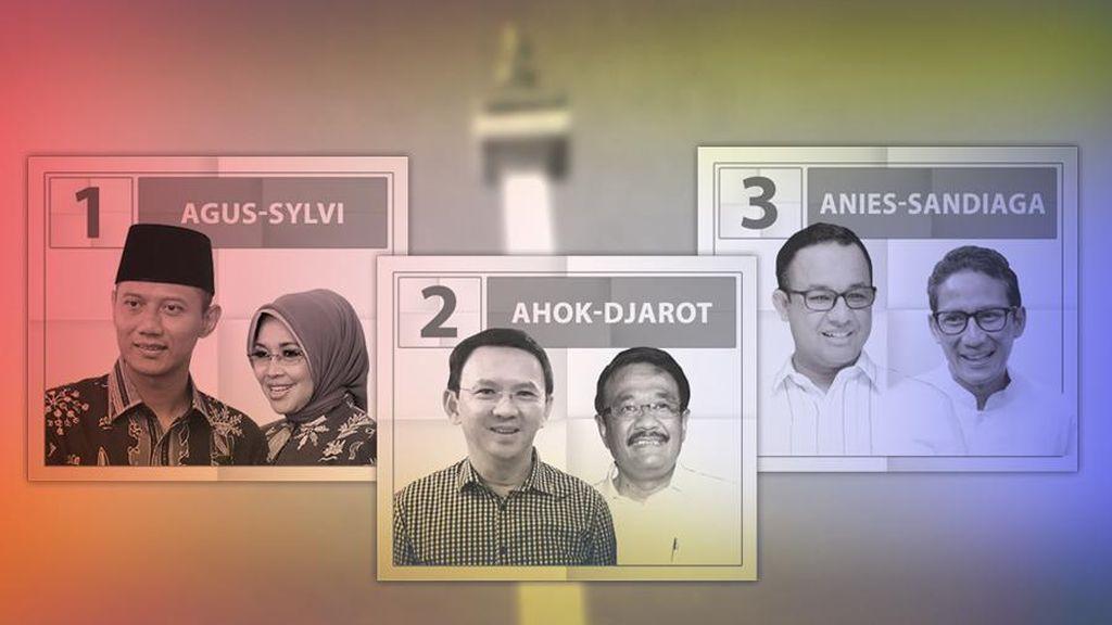 Tim Sukses 3 Pasangan Cagub-Cawagub DKI Temui Kapolda Metro