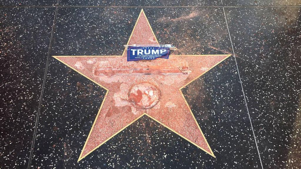 Bintang Hollywood Walk of Fame Milik Donald Trump Dirusak