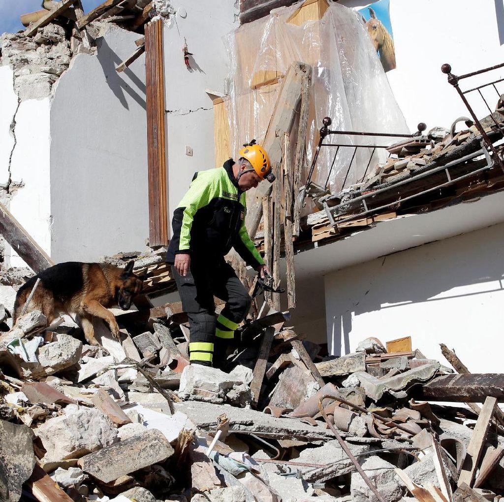 Tiga Gempa yang Guncang Italia Buat Warga Ketakutan, Puluhan Luka-luka