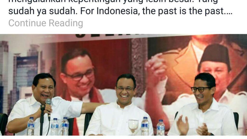 Pernah Jadi Lawan Politik, Ini Kisah di Balik Dukungan Prabowo ke Anies