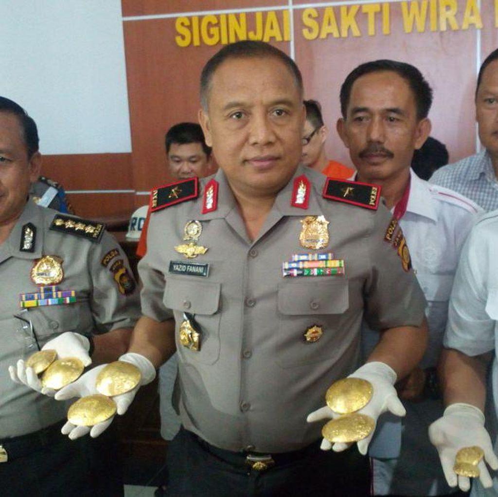 Polisi Bekuk 4 Pelaku Penampung Emas Hasil Penambangan Liar di Jambi