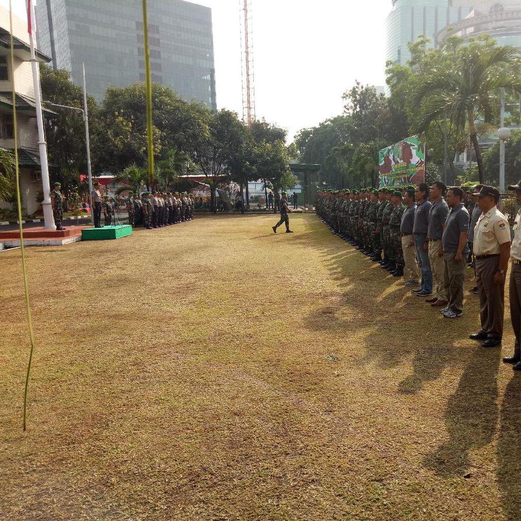 Polres Jakpus Apel Bersama Kodim 0501 untuk Pengamanan Jelang Pilgub DKI