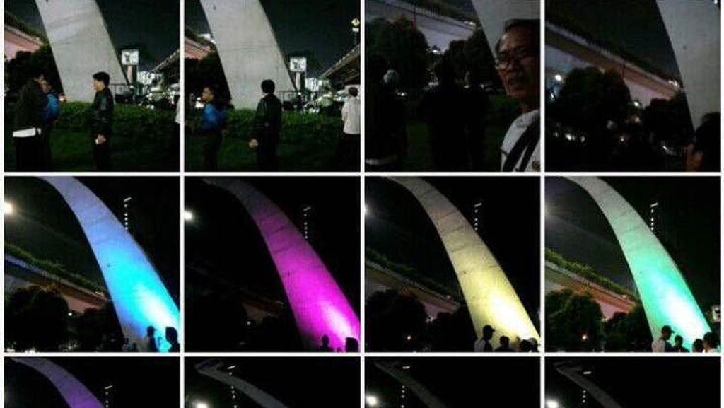 Patung Pancoran Kini Tampil Lebih Colorfull
