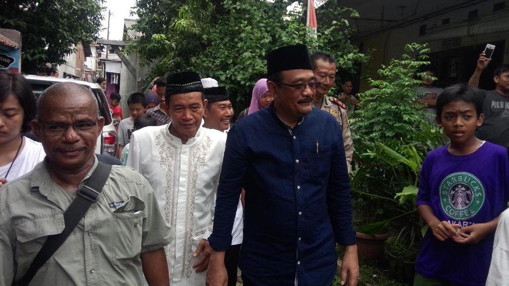Djarot Janjikan Sodetan dan Embung untuk Cegah Banjir di Pasar Rebo