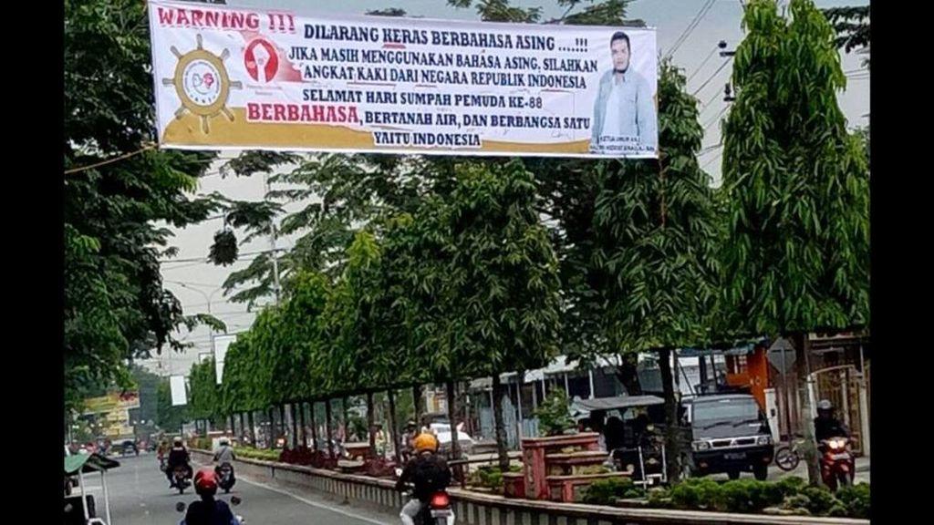 Spanduk Hari Sumpah Pemuda Ini Ramai Dibahas Netizen, Banyak yang Gagal Paham