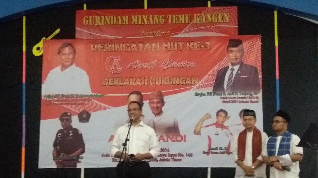 Di Depan Pendukung Prabowo, Anies Kritik Laporan Keuangan Pemprov DKI