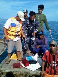 Begini Pencarian Pesawat Polri yang Jatuh di Perairan Kepri oleh TNI AL