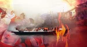 Kapal Wisata Terbakar