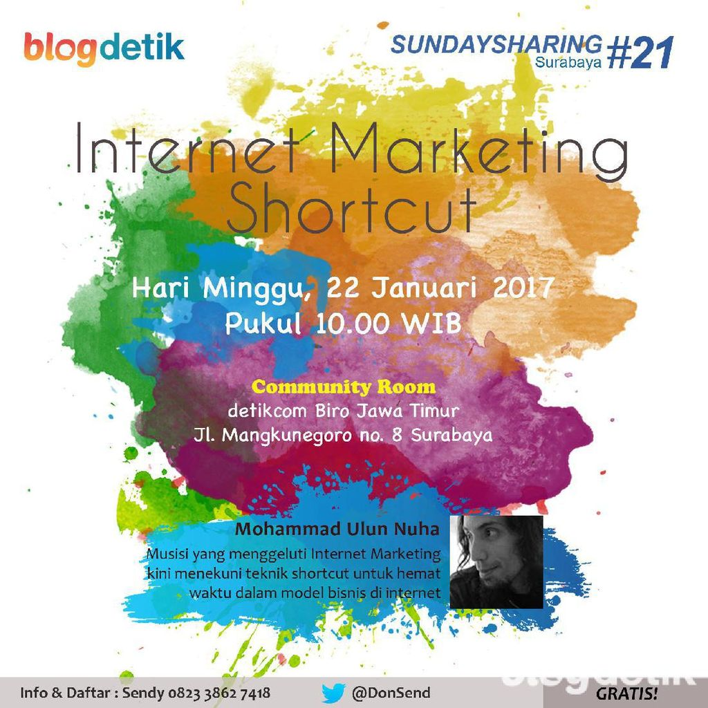 Belajar Internet Marketing Shortcut di Sunday Sharing Surabaya #21