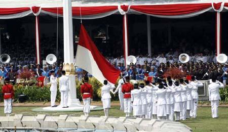 Upacara Bendera di Istana