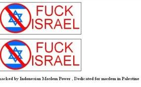 Orang Indonesia Acak-acak Situs Israel