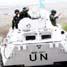 Para prajurit Konga XXIII-C/UNIFIL menyapa pengendara yang melintas di perbatasan Libanon-Israel. (Letkol Arh Hari Mulyanto).
