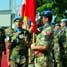 Pemeriksaan pasukan yang terdiri dari personel berbagai negara kontingen yang tergabung dalam misi UNIFIL. (Kapten Laut (KH) Hondor Saragih).