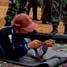 Seorang peserta lomba tampak berkonsentrasi saat mengikuti lomba tembak yang digelar oleh Korem 041 Gamas Bengkulu. (Nugroho Tri Putra).